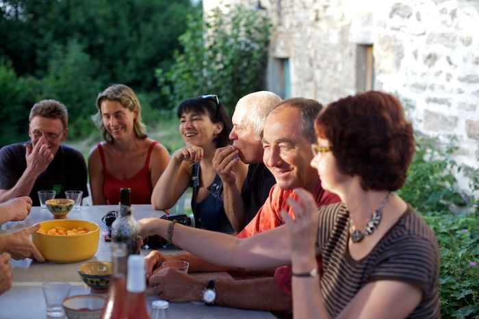 Sylvie, Jean Paul, Claude, Magali, Stéphane et son amie