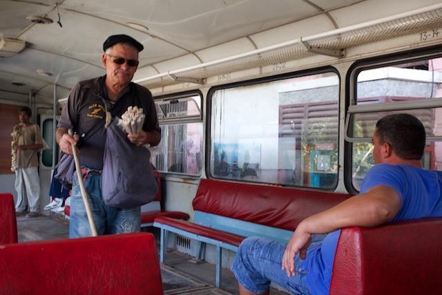 Le vendeur du train